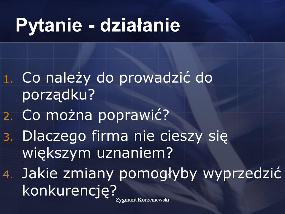 Zygmunt Korzeniewski Pytanie - działanie 1. Co należy do prowadzić do porządku.
