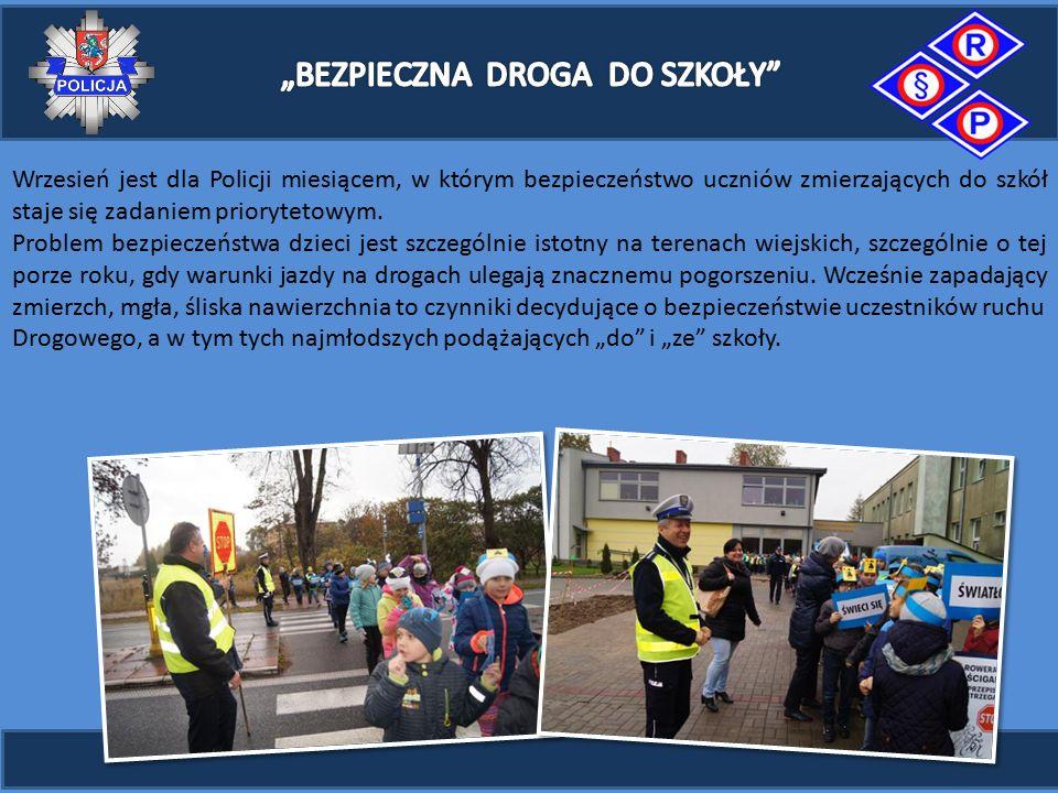 Wrzesień jest dla Policji miesiącem, w którym bezpieczeństwo uczniów zmierzających do szkół staje się zadaniem priorytetowym.