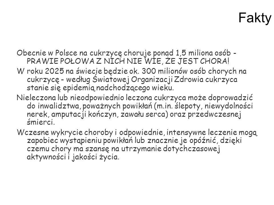 Fakty Obecnie w Polsce na cukrzycę choruje ponad 1,5 miliona osób - PRAWIE POŁOWA Z NICH NIE WIE, ŻE JEST CHORA! W roku 2025 na świecie będzie ok. 300