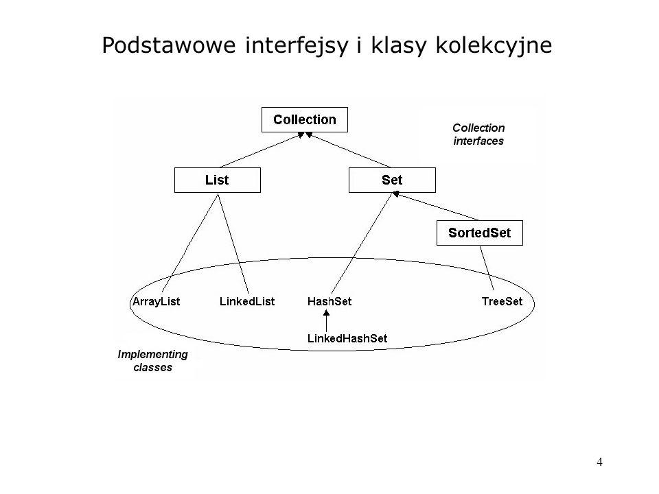 4 Podstawowe interfejsy i klasy kolekcyjne