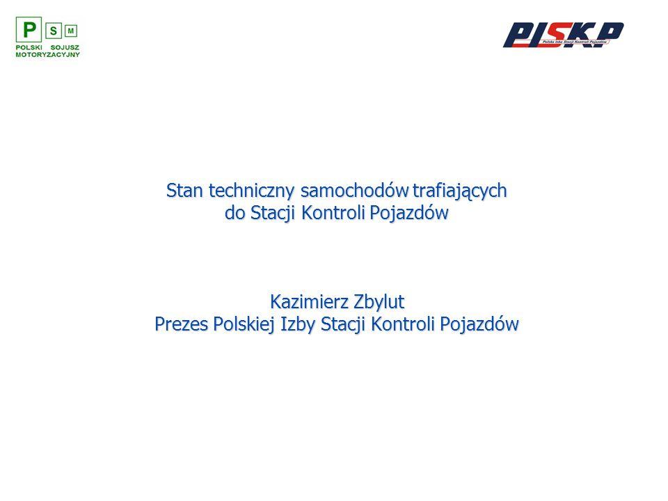 Stan techniczny samochodów trafiających do Stacji Kontroli Pojazdów Kazimierz Zbylut Prezes Polskiej Izby Stacji Kontroli Pojazdów