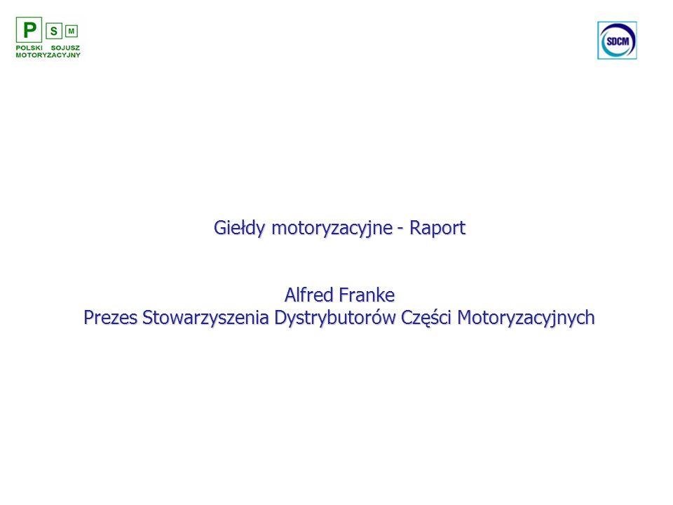 Giełdy motoryzacyjne - Raport Alfred Franke Prezes Stowarzyszenia Dystrybutorów Części Motoryzacyjnych