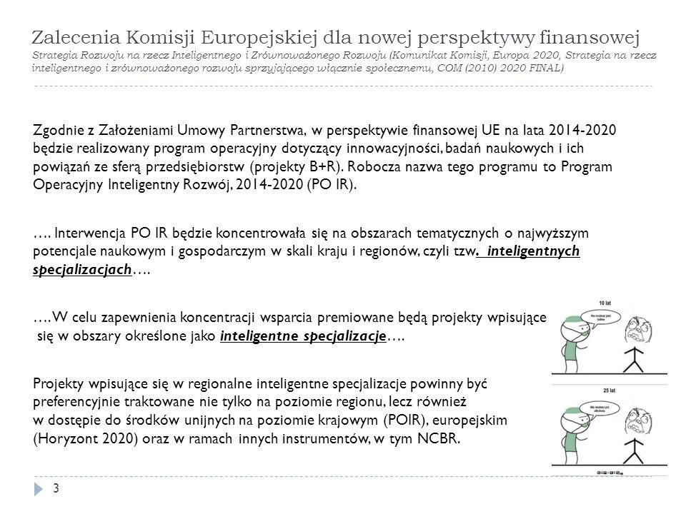 Zgodnie z Założeniami Umowy Partnerstwa, w perspektywie finansowej UE na lata 2014-2020 będzie realizowany program operacyjny dotyczący innowacyjności