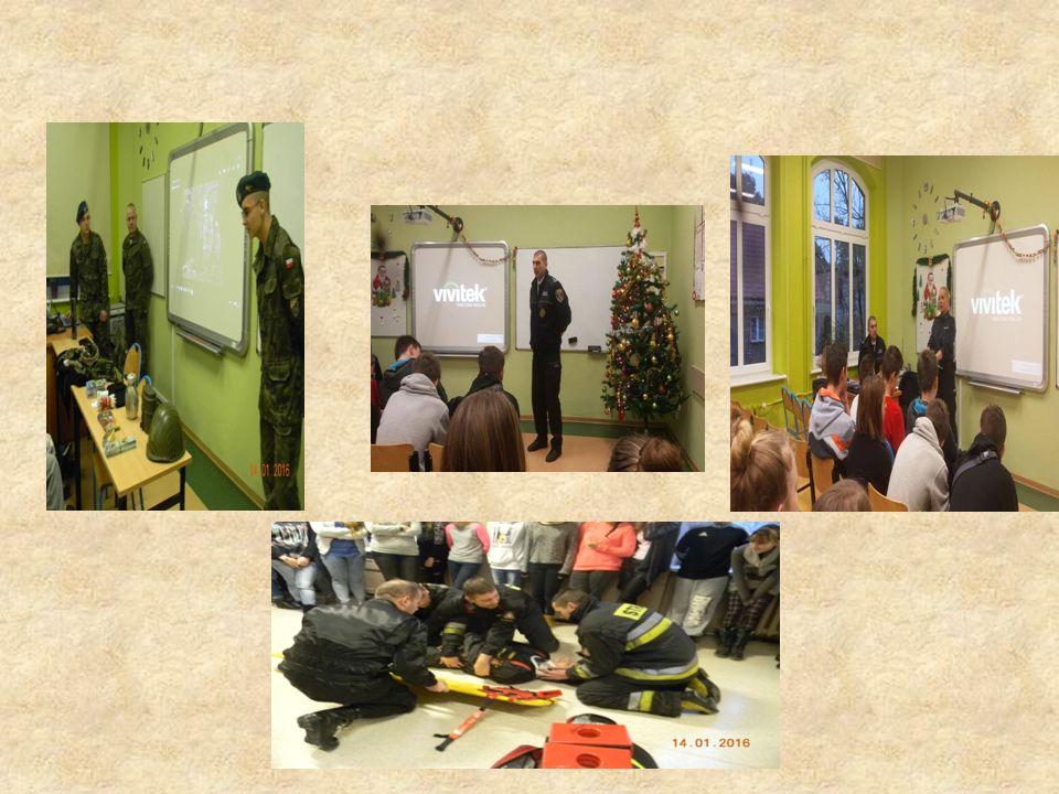 W rezultacie pracy naszej grupy udało nam się zorganizować spotkania z przedstawicielami poszczególnych służb:  Policja,  Straż Miejska,  Siły Zbro