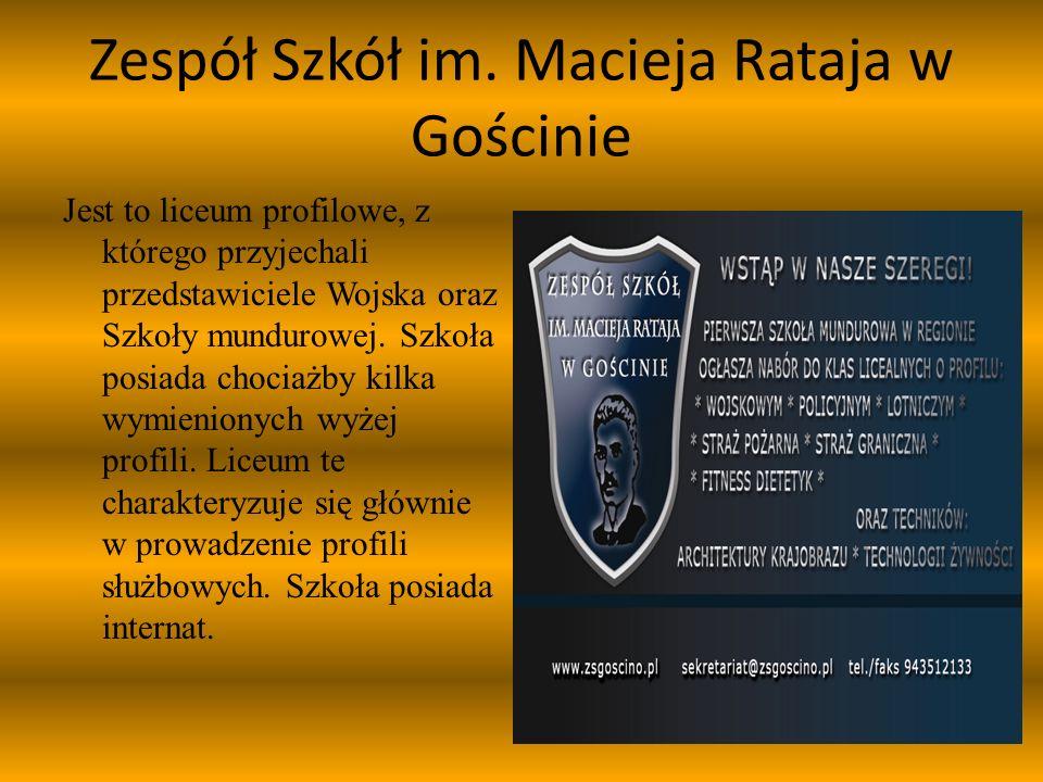 Przedstawicielami służb byli:  Daniel Leśniak i Dominik Elbiński (siły zbrojne i szkoła mundurowa),  Beata Olszewska (policja),  Mirosław Karliński