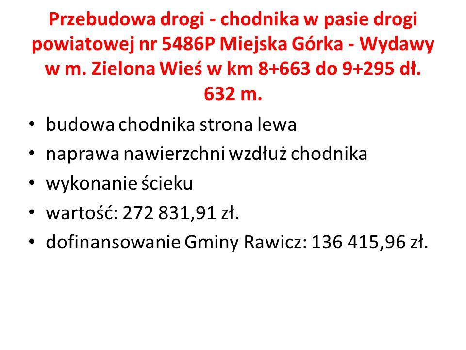 Przebudowa drogi - chodnika w pasie drogi powiatowej nr 5486P Miejska Górka - Wydawy w m.