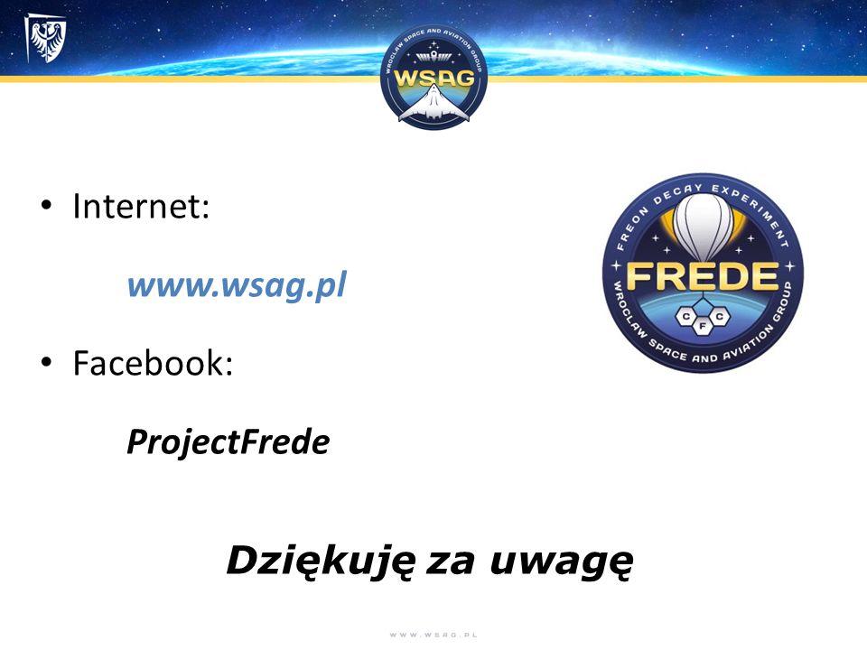 Internet: www.wsag.pl Facebook: ProjectFrede Dziękuję za uwagę