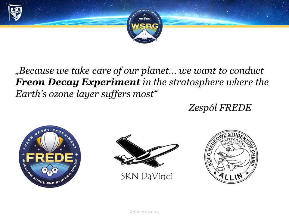 """Because we take care of our planet..."