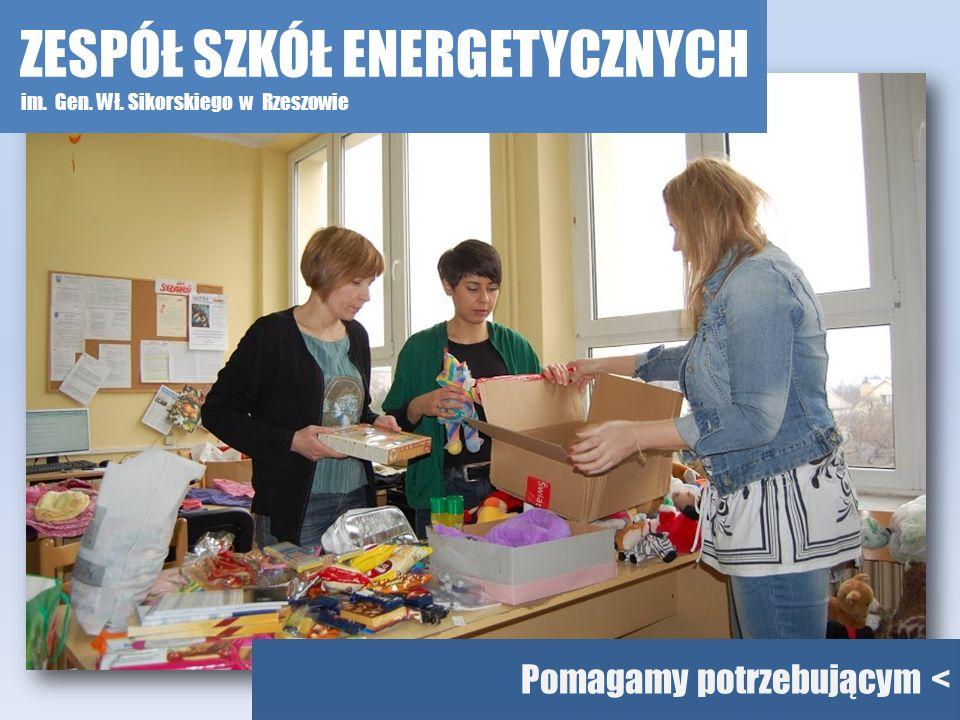 Pomagamy potrzebującym < ZESPÓŁ SZKÓŁ ENERGETYCZNYCH im. Gen. Wł. Sikorskiego w Rzeszowie