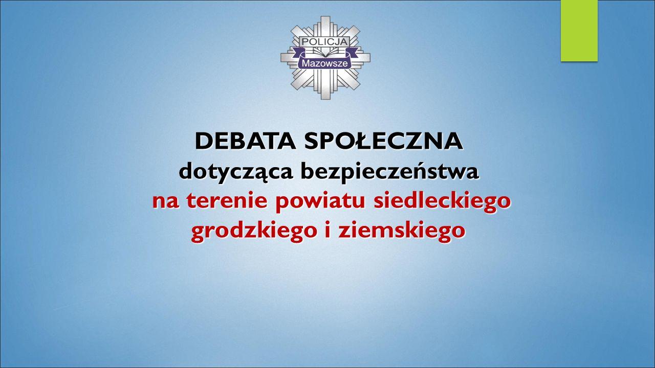 DEBATA SPOŁECZNA dotycząca bezpieczeństwa na terenie powiatu siedleckiego grodzkiego i ziemskiego