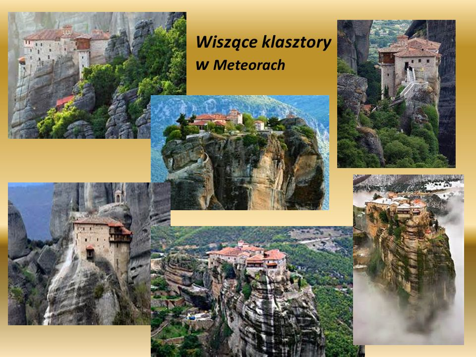 Wiszące klasztory w Meteorach