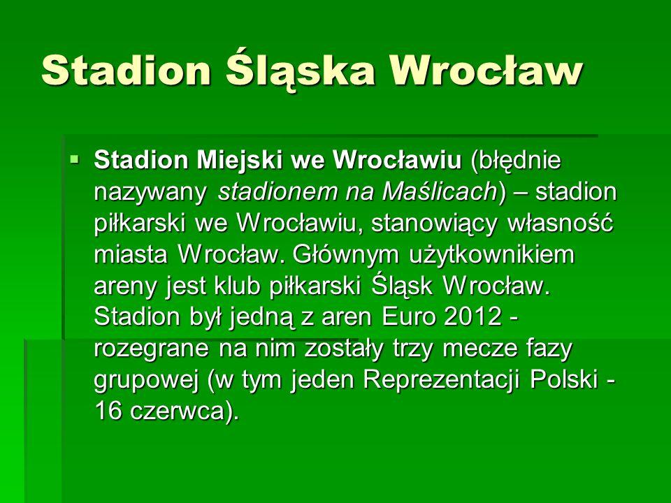 Stadion Śląska Wrocław  Stadion Miejski we Wrocławiu (błędnie nazywany stadionem na Maślicach) – stadion piłkarski we Wrocławiu, stanowiący własność