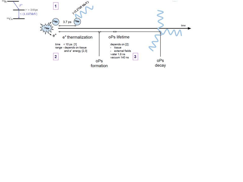 Rozmiary, pokaz przenikania na modelu skarpetkowym - - - - + 14 O → 14 N* + e + + v e 14 N + γ