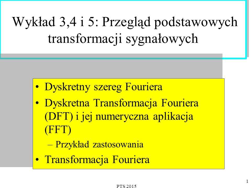 PTS 2015 2 Dyskretny szereg Fouriera Wyprowadzenie DFS gdzie oraz.
