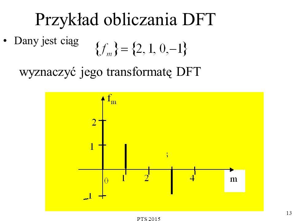 PTS 2015 14 Z wzoru definicyjnego : dla N=4