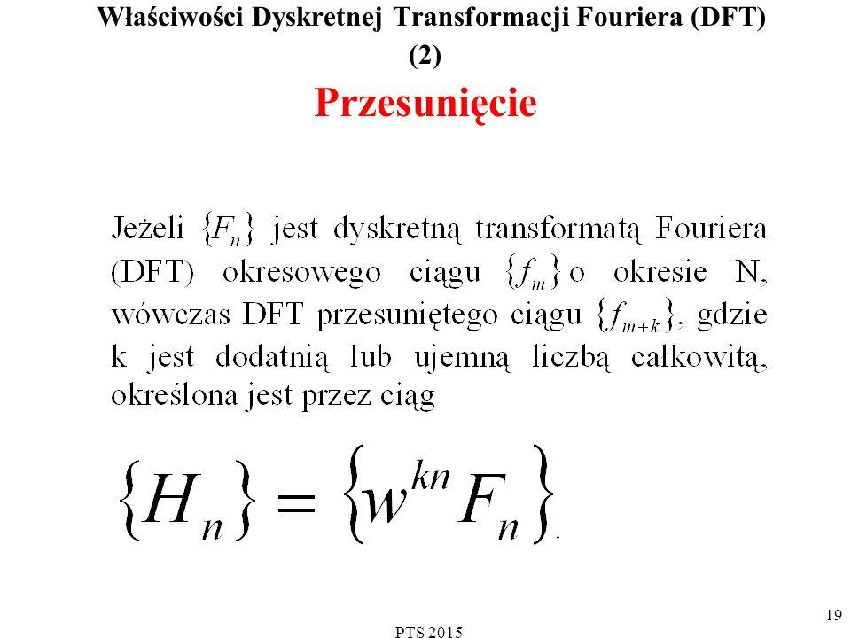 PTS 2015 20 Uzasadnienie prawdziwości właściwości transformaty DFT Przesunięcie