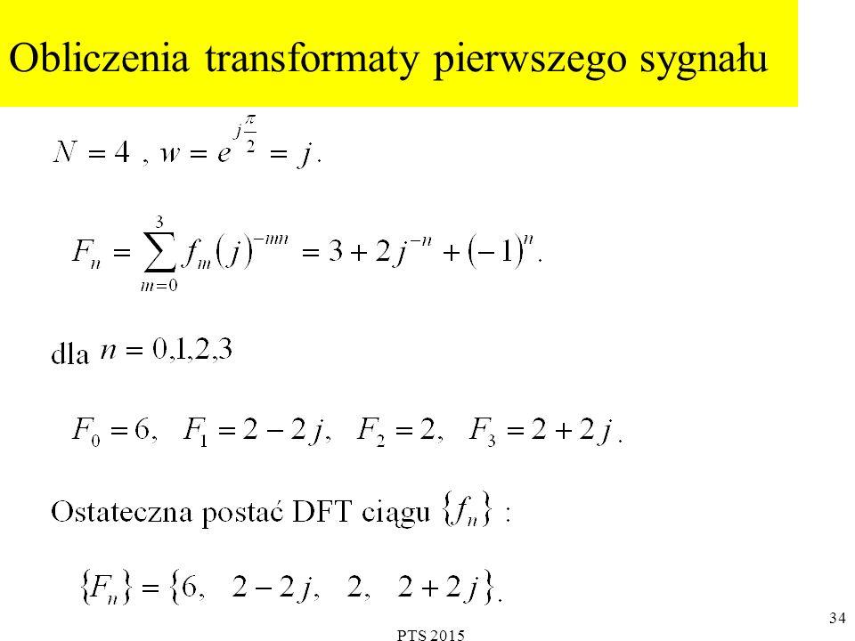 PTS 2015 35 Obliczenia transformaty drugiego sygnału