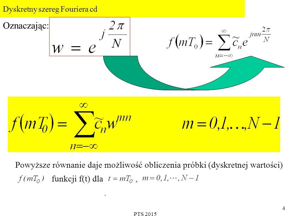 PTS 2015 5 Dyskretny szereg Fouriera cd.