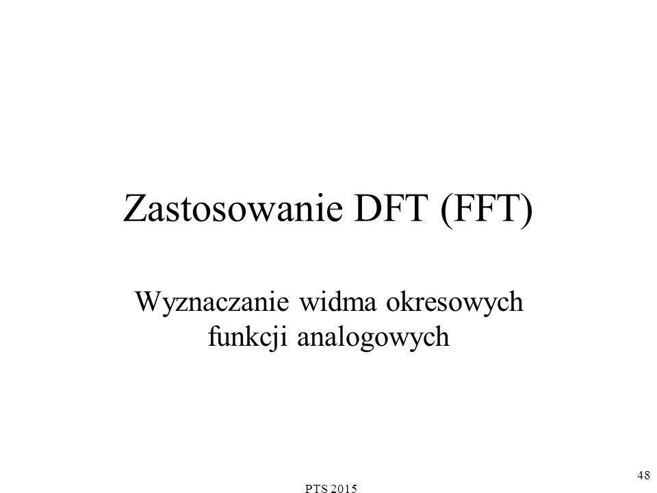 PTS 2015 49 Przykład DFT Chcemy spróbkować ciągły sygnał wejściowy zawierający dwie składowe: i wyznaczyć 8-punktową DFT 135 o