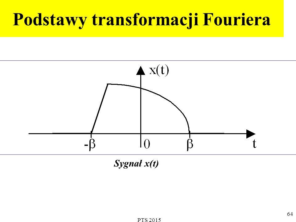 PTS 2015 65 Ponieważ x(t) nie jest sygnałem okresowym, nie może być przedstawiony w postaci szeregu Fouriera.