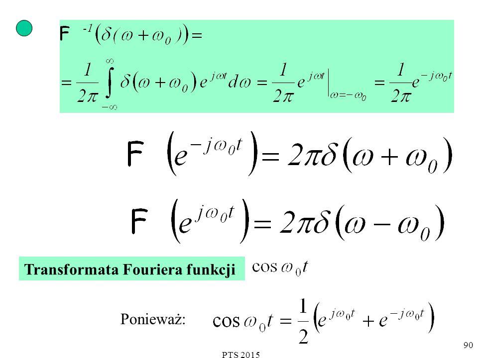 PTS 2015 91 Transformata Fouriera funkcji cosinus