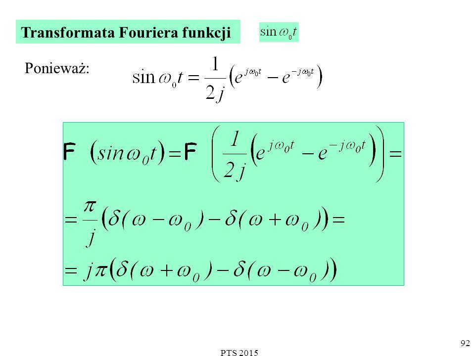 PTS 2015 93 Transformata Fouriera funkcji sinus