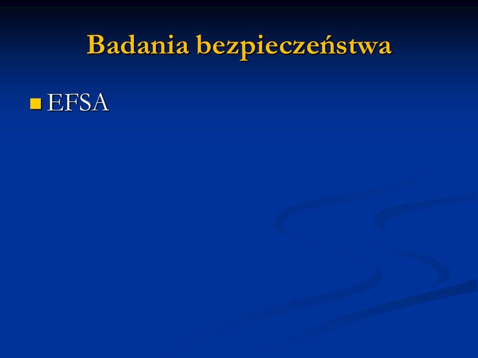Badania bezpieczeństwa EFSA EFSA