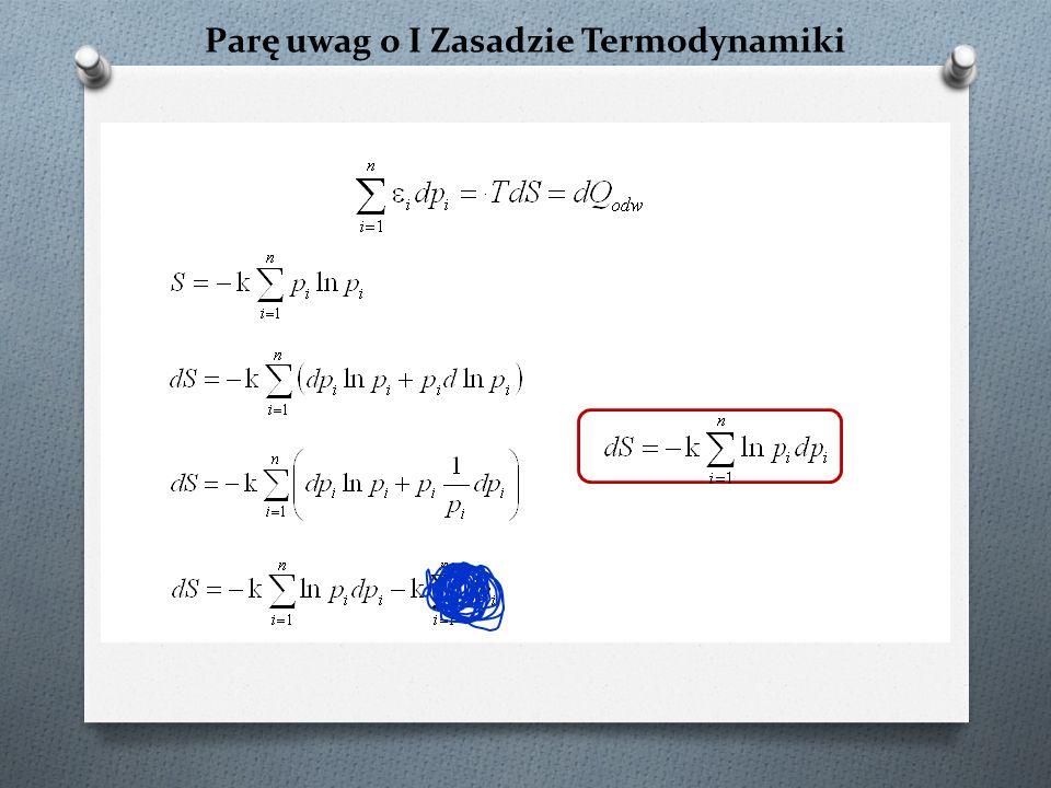 Paradoks Gibbsa – raz jeszcze czysty składnik N 1, V 1 N 2, V 2 N 1 +N 2, V 1 +V 2 T = const Co równa się zeru dla stałej gęstości!