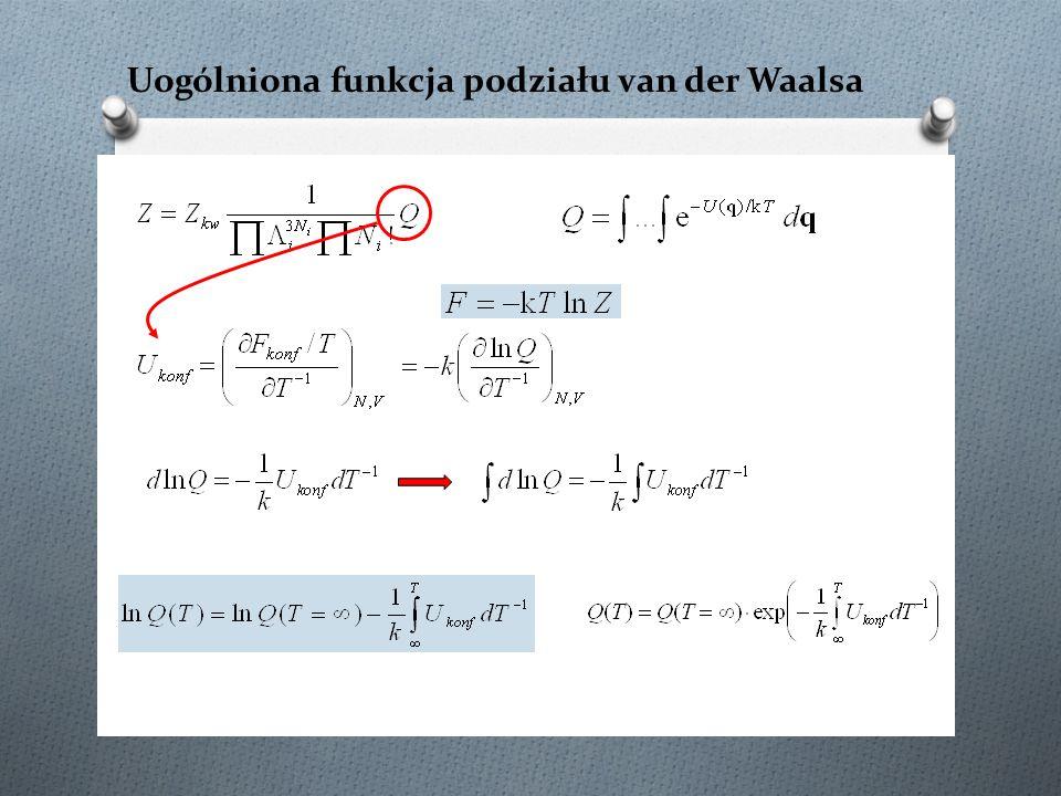 Uogólniona funkcja podziału van der Waalsa