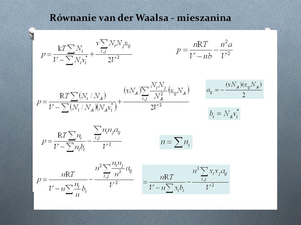 Równanie van der Waalsa - mieszanina