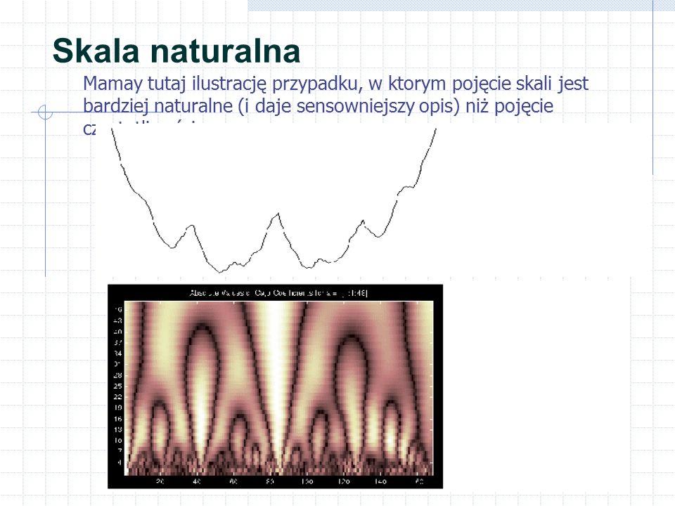 Skala naturalna Mamay tutaj ilustrację przypadku, w ktorym pojęcie skali jest bardziej naturalne (i daje sensowniejszy opis) niż pojęcie częstotliwości.
