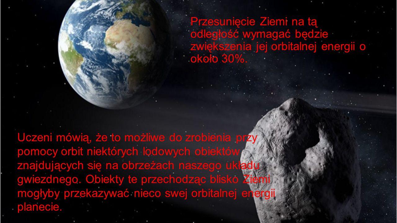 Przesunięcie Ziemi na tą odległość wymagać będzie zwiększenia jej orbitalnej energii o około 30%. Uczeni mówią, że to możliwe do zrobienia przy pomocy