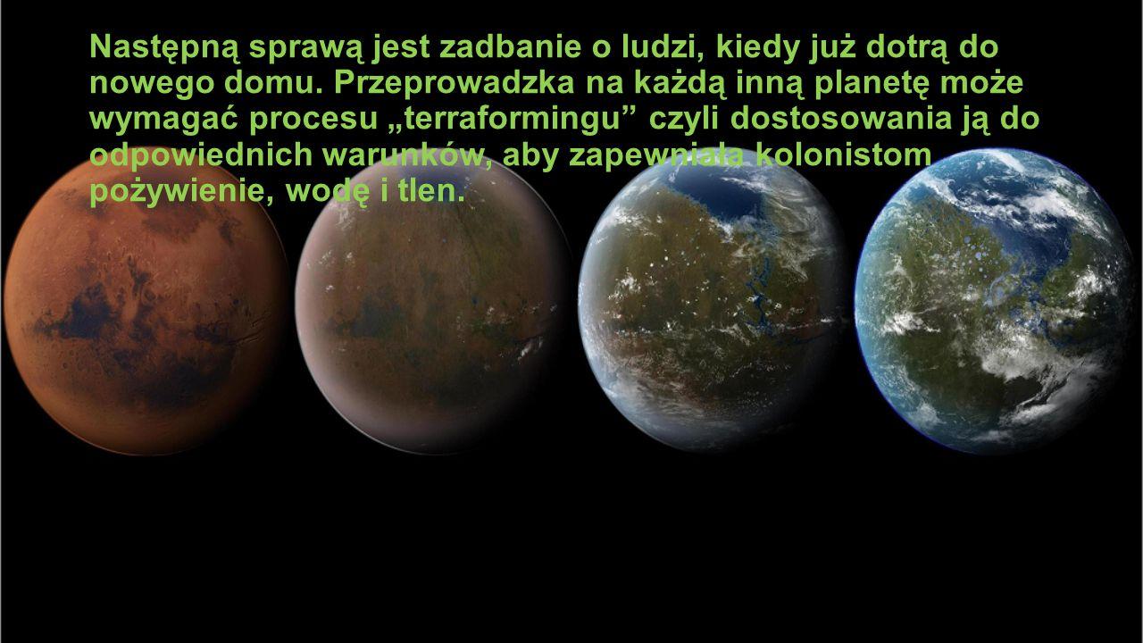 """Następną sprawą jest zadbanie o ludzi, kiedy już dotrą do nowego domu. Przeprowadzka na każdą inną planetę może wymagać procesu """"terraformingu"""" czyli"""