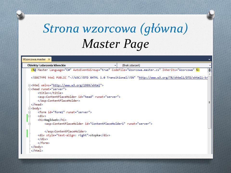 Strona wzorcowa (główna) Master Page