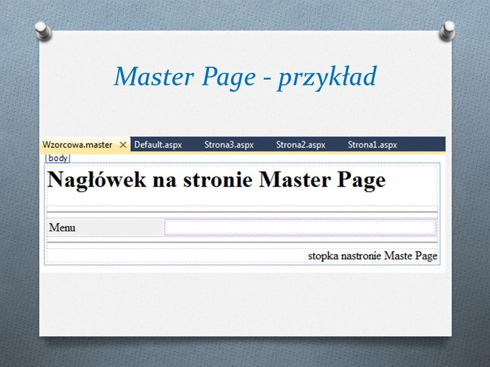 Master Page - przykład