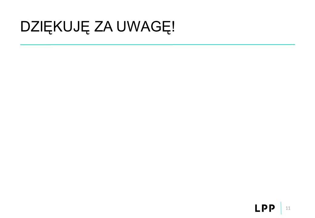 DZIĘKUJĘ ZA UWAGĘ! 11