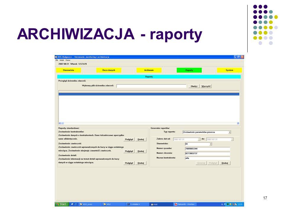 17 ARCHIWIZACJA - raporty