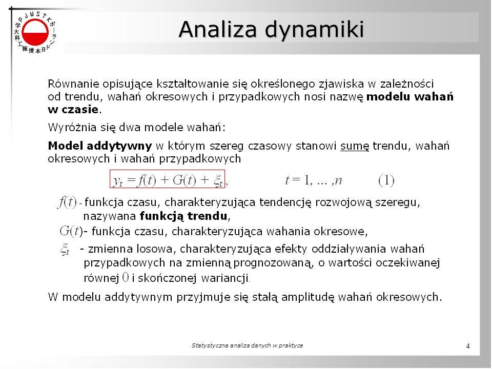 Statystyczna analiza danych w praktyce 4 Analiza dynamiki