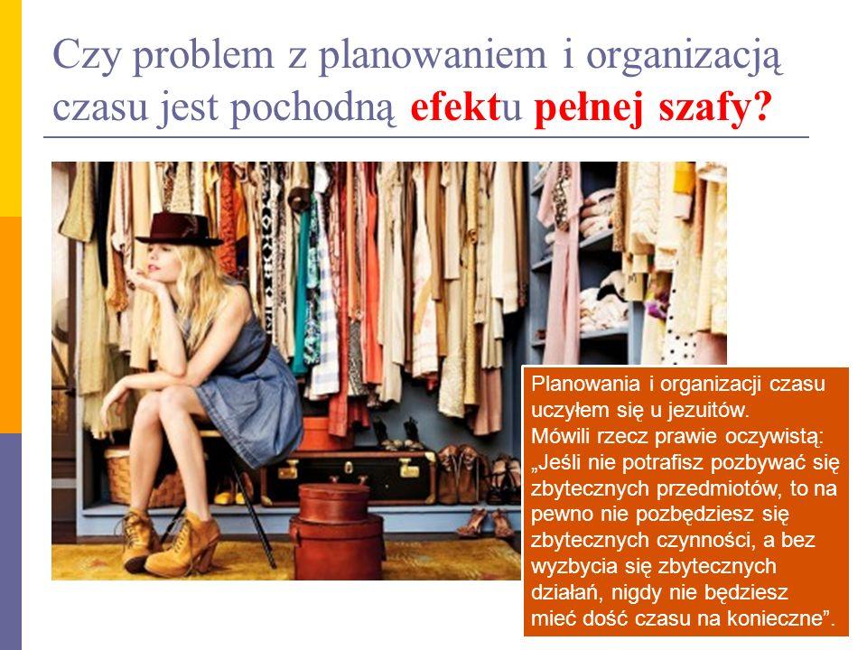 Czy problem z planowaniem i organizacją czasu jest pochodną efektu pełnej szafy.
