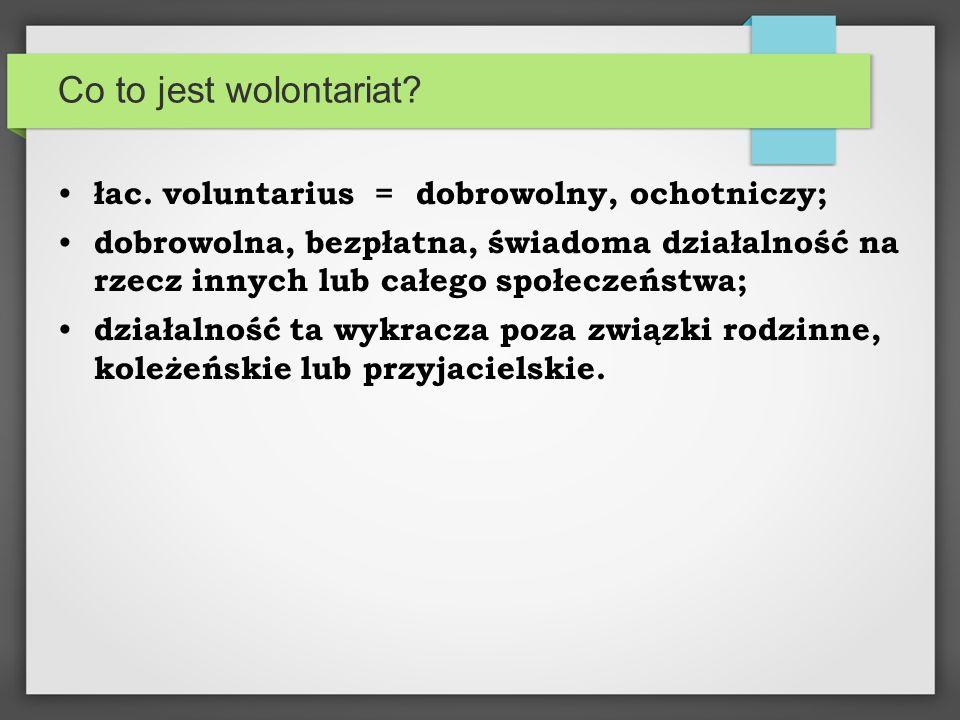 Co to jest wolontariat. łac.