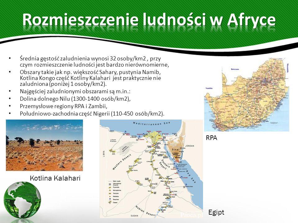 Średnia gęstość zaludnienia wynosi 32 osoby/km2, przy czym rozmieszczenie ludności jest bardzo nierównomierne, Obszary takie jak np.