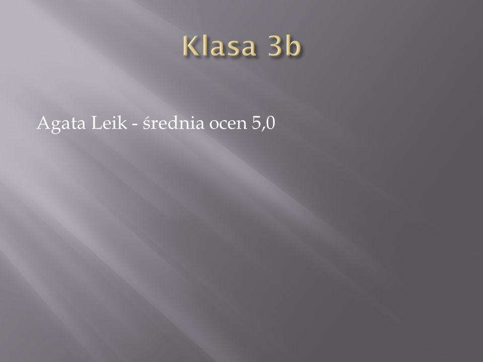 Agata Leik - średnia ocen 5,0