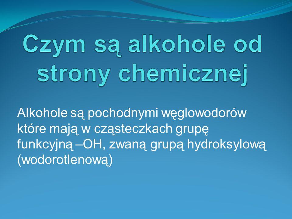 - Etanol jest bezbarwną cieczą o charakterystycznym zapachu i ostrym smaku.