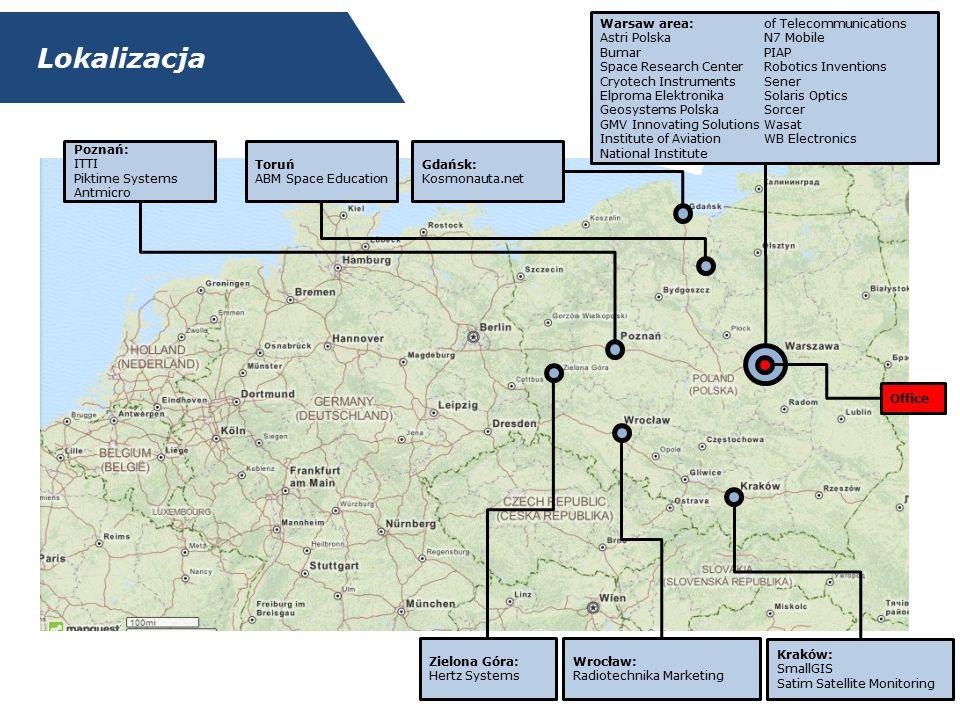 Umiejscowienie Związku Administracja Sektor europejski Organizacje międzynarodowe Sektory powiązane Associations Clusters Polski sektor kosmiczny Space PL Pozostałe podmioty