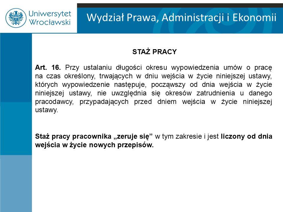 Wydział Prawa, Administracji i Ekonomii Art.16.