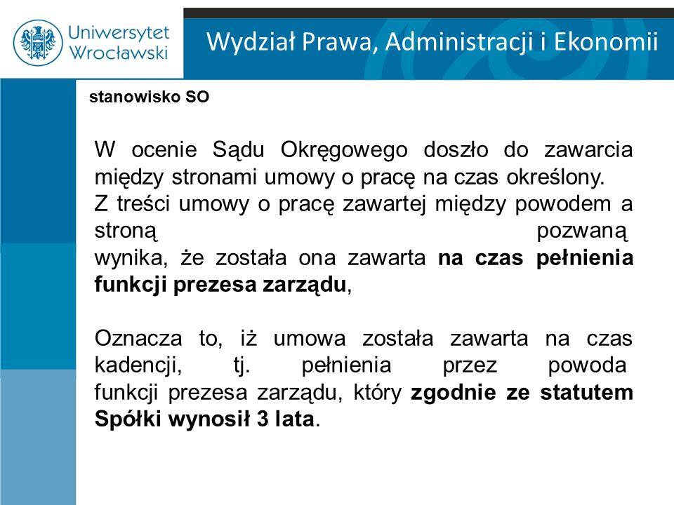Wydział Prawa, Administracji i Ekonomii W orzeczeniu z dnia 25 stycznia 2007 r.