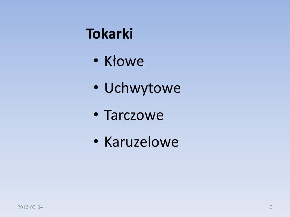 Tokarki Kłowe Uchwytowe Tarczowe Karuzelowe 2016-03-043