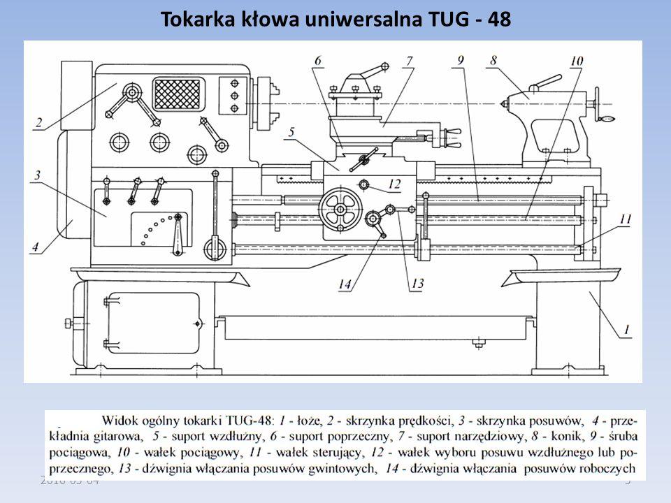 Tokarka kłowa uniwersalna TUG - 48 2016-03-045