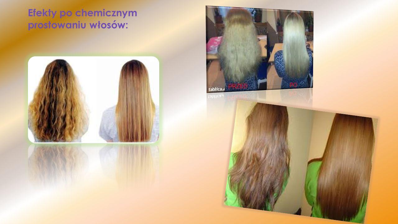 Efekty po chemicznym prostowaniu włosów: