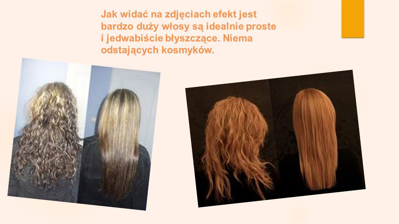 Jak widać na zdjęciach efekt jest bardzo duży włosy są idealnie proste i jedwabiście błyszczące. Niema odstających kosmyków.